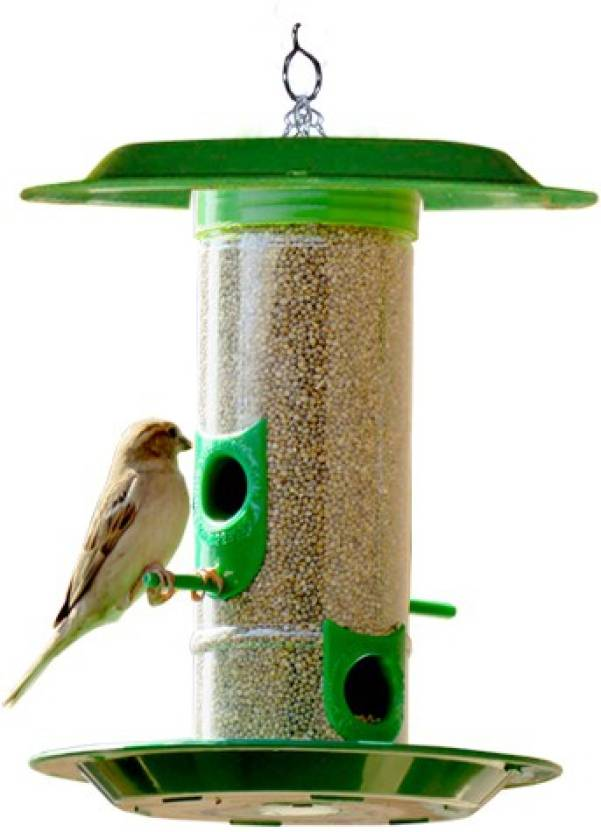 Amijivdaya Medium Bird Feeder With Hut Window Bird Feeder Bird