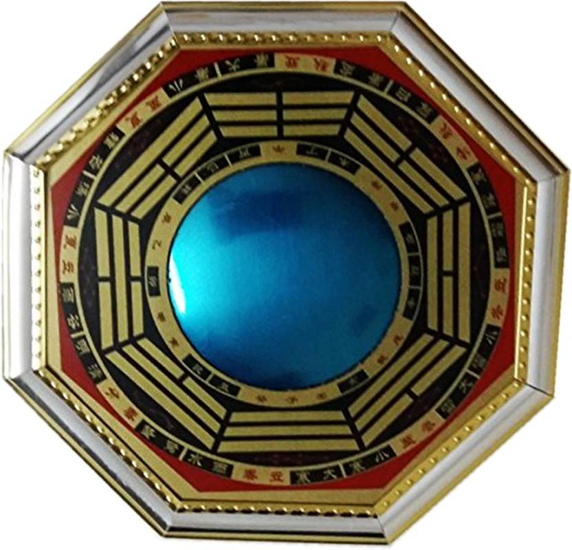 Ratnatraya Feng Shui Convex Bagua Mirror Symbols Of Protection