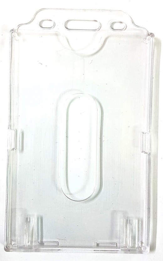 ID Badge Holder Plastic ID Card Holder Double Sided Transparent Card Holder X9