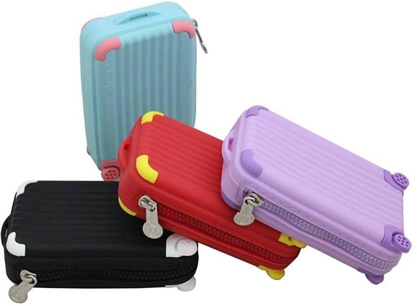da28577a388f SND Silicon Suitcase Shape Featured Coin Pouch Coin Purse Multicolor ...