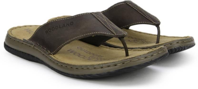 157cf0dfa23 Woodland Leather Flip Flops - Buy BROWN Color Woodland Leather Flip Flops  Online at Best Price - Shop Online for Footwears in India