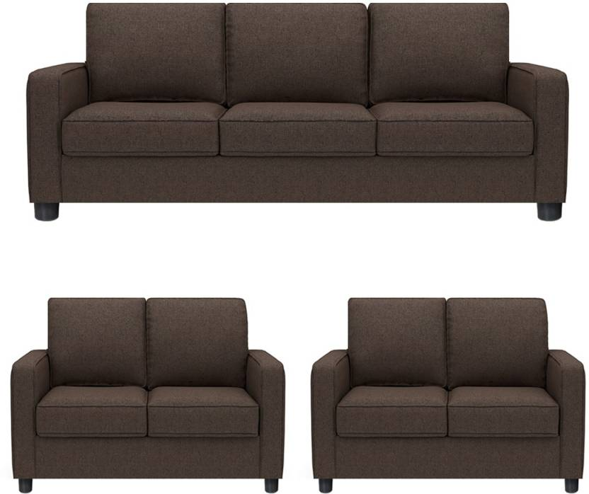 26d67ad1df3 GIOTEAK Fabric 3 + 2 + 2 BROWN Sofa Set Price in India - Buy GIOTEAK Fabric  3 + 2 + 2 BROWN Sofa Set online at Flipkart.com