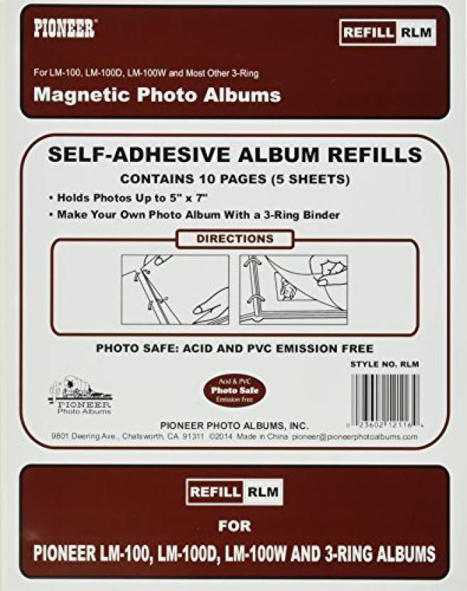 Pioneer Photo Albums Refill Pages For Lm 100 Lm 100d And Lm 100w
