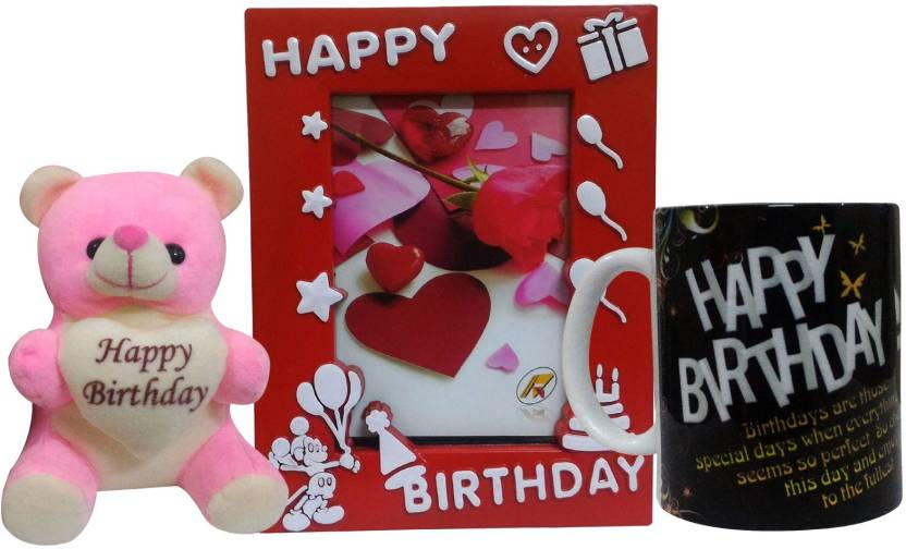 Saugat Traders Birthday Gift Combo Soft Teddy Birthday Photo