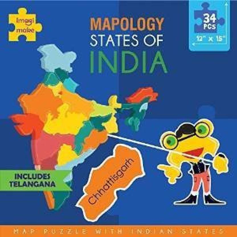Imagimake Mapology States Of India Map Puzzle Mapology States
