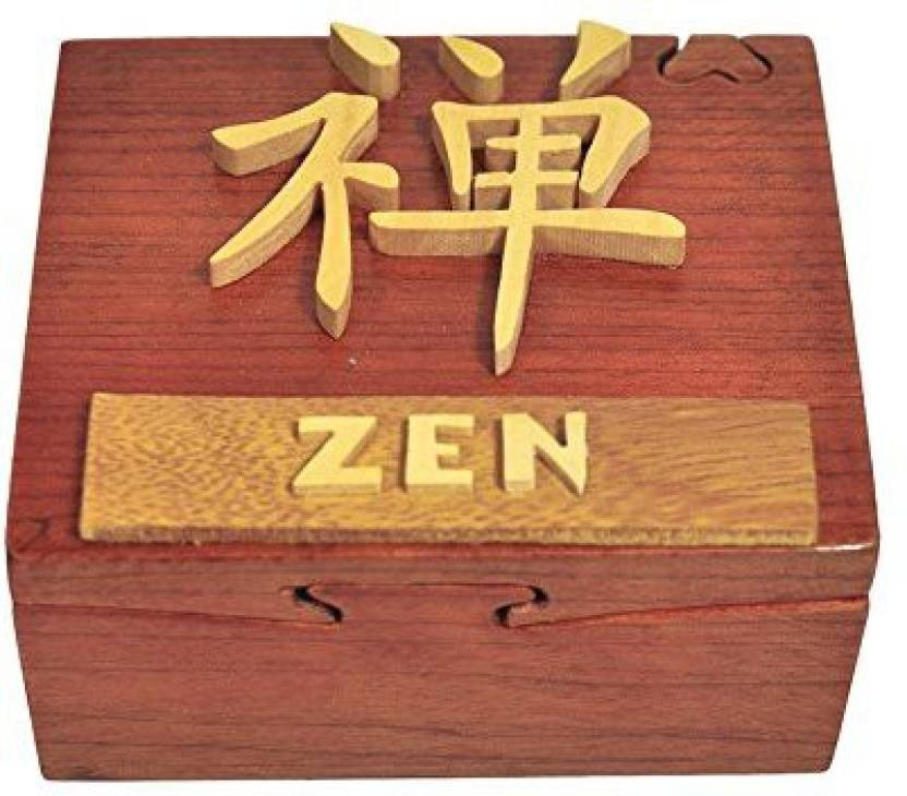 South Asia Trading Handmade Wooden Art Intarsia Trick Secret Chinese