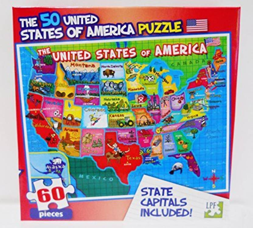Generic Lpf Puzzle United States Of America Usa Map With State ...