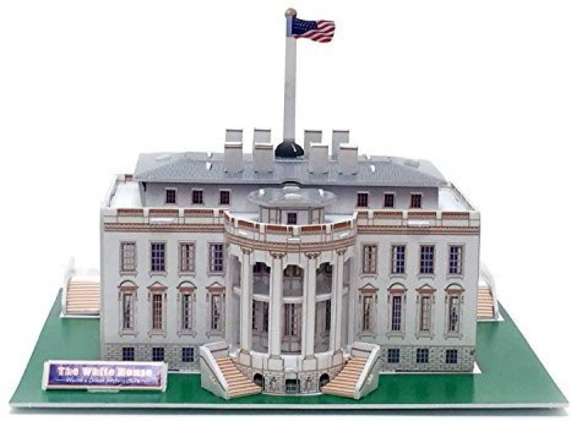 Runsong Creative 3d Puzzle Paper Model White House Diy Fun