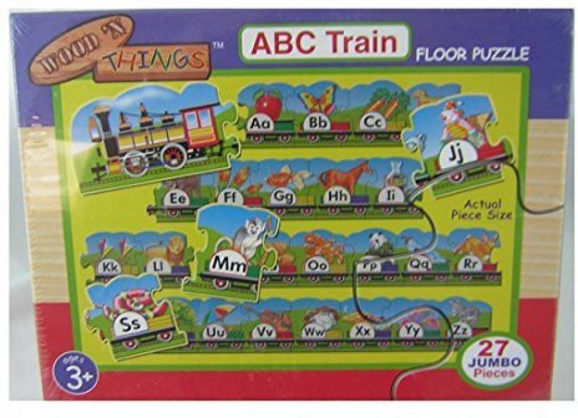 Toys R Us Wood 'N Things Abc Train Floor Puzzle - Over 0