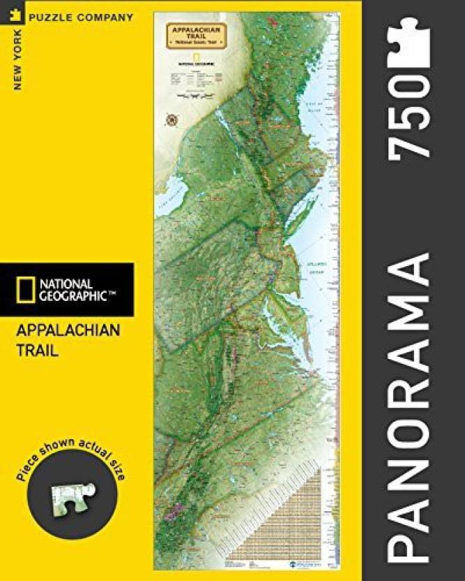 New York Puzzle Company National Geographic Appalachian Trail Jigsaw National Geographic Trail Maps App on
