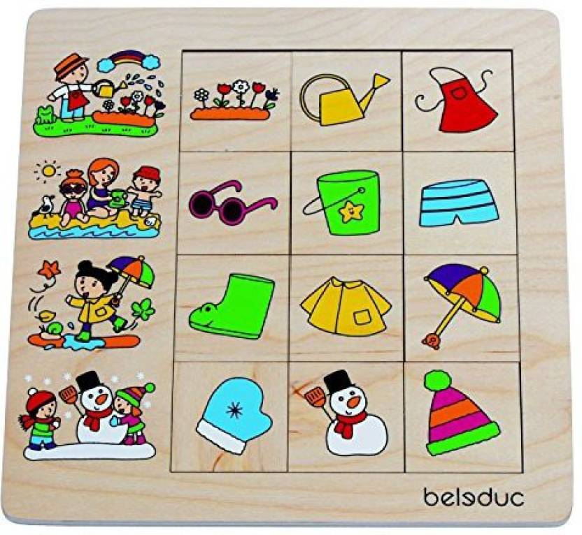 Beleduc Sorting Toys For Toddlers Seasons Sorting Puzzle For Kids