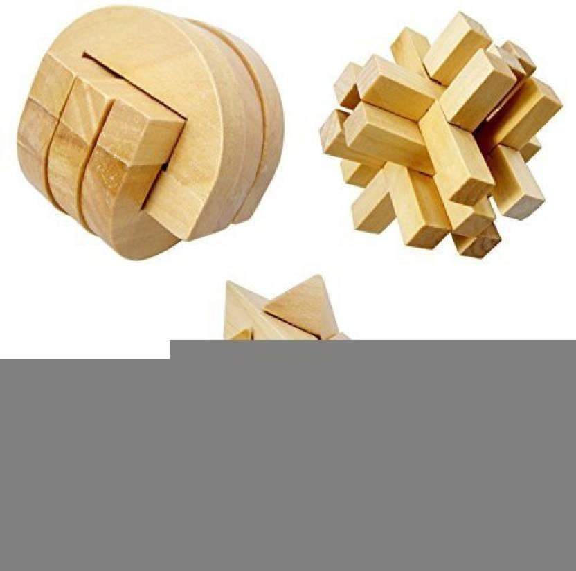 Zhams Wooden Puzzle Educational Wood Toys Training Creative Thinking