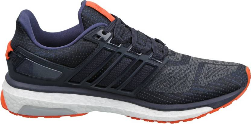 pretty nice 51564 af2ec ADIDAS ENERGY BOOST 3 M Running Shoes For Men (Navy, Green)