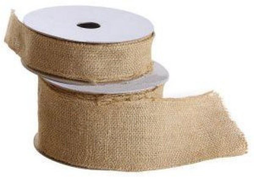 10 yd. New Free Ship Creative Wide Burlap Fabric Craft Ribbon On Spool