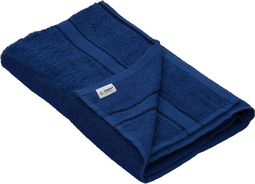 Flipkart SmartBuy 340 GSM Bath Towel  (Navy Blue)