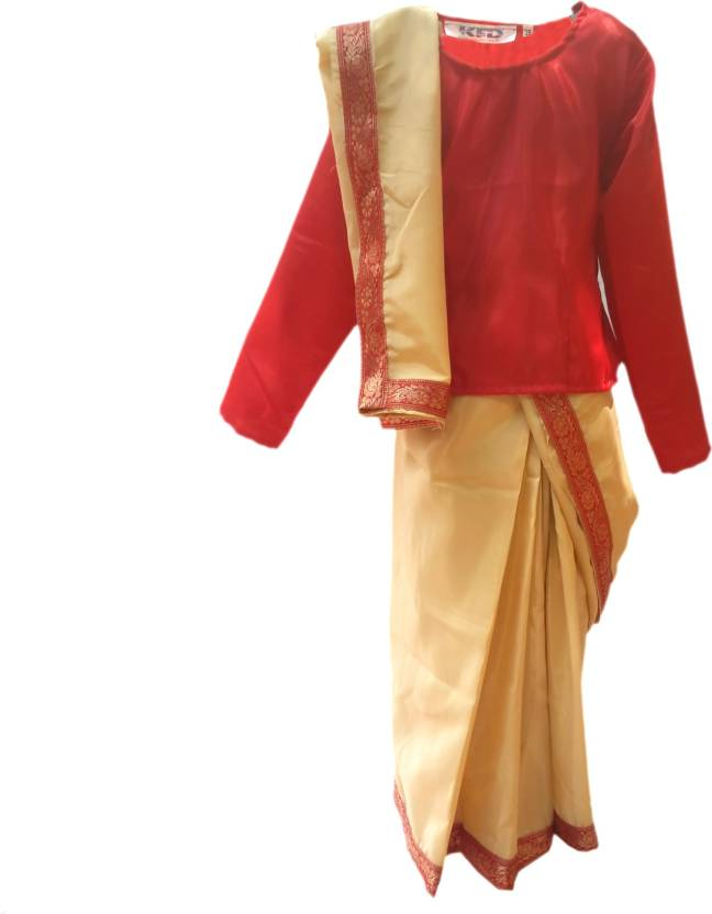 7c2c46c002 KFD Bihu Saree Fancy dress for kids,Indian State/Dance Costume for Annual  function/Theme Party/Competition/Stage Shows Dress Kids Costume Wear Price  in ...