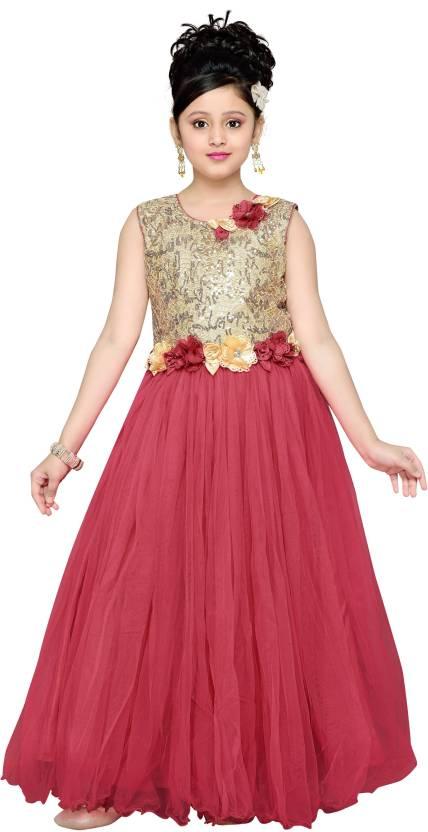 Aarika Girls Maxi/Full Length Party Dress Price in India - Buy ...