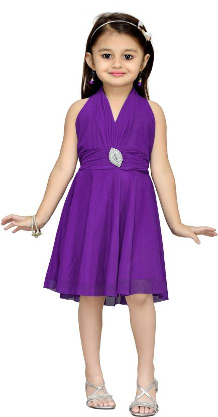 Aarika Girls Midi/Knee Length Party Dress Price in India - Buy ...