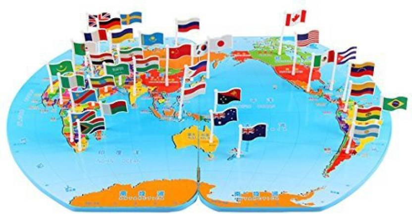 Monique children wooden world map flag matching puzzle toy kids monique children wooden world map flag matching puzzle toy kids geography jigsaw puzzles toy gumiabroncs Image collections