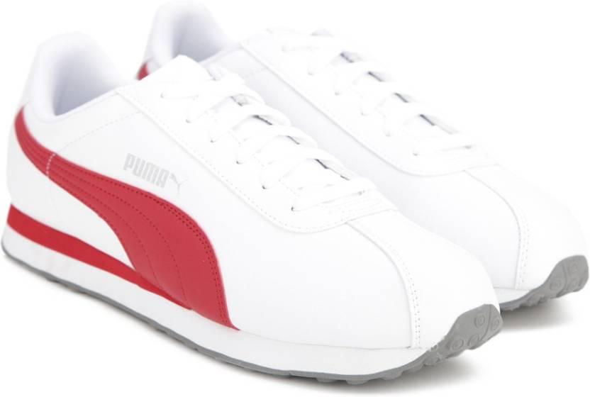 a9f1631e98af3b Puma Turin Sneakers For Men - Buy Puma White-Barbados Cherry Color ...
