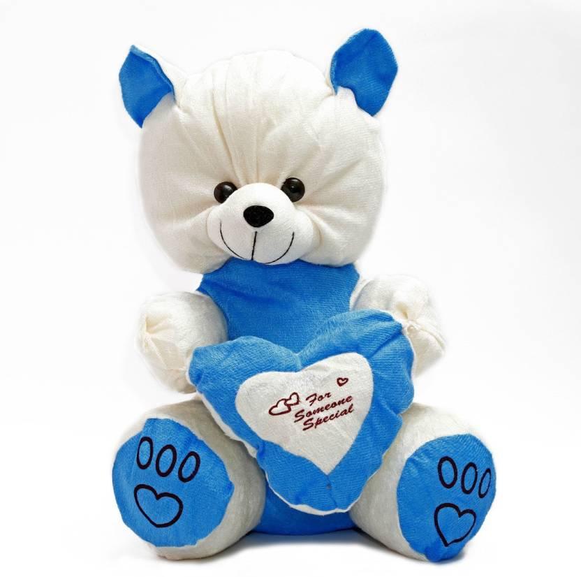 paribazaar Blue Teddy - 38 cm - Blue Teddy   Buy Teddy Bear