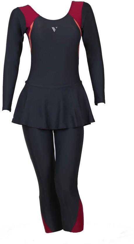 Veloz Veloz 1 piece swimming costume full sleeves - 3/4 th length Striped Womenu0027s  sc 1 st  Flipkart & Veloz Veloz 1 piece swimming costume full sleeves - 3/4 th length ...