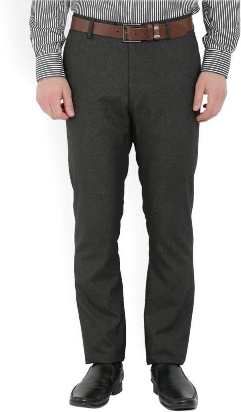 Arrow Slim Fit Men's Grey Trousers