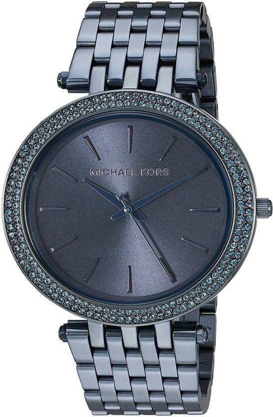 41355ce1c71 Michael Kors MK3417 Darci Blue Sunray Dial Blue Stainless Steel Ladies Watch  - For Women - Buy Michael Kors MK3417 Darci Blue Sunray Dial Blue Stainless  ...