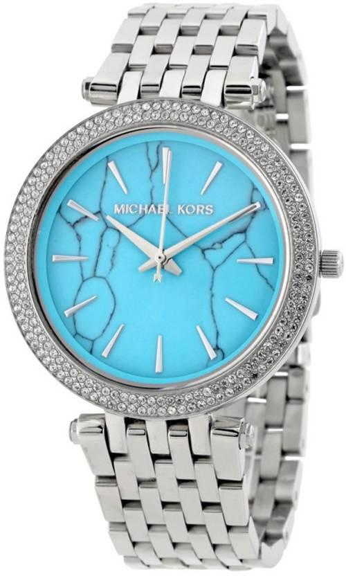 b61dfca96dc7 Michael Kors MK3403 Darci Turquoise Dial Watch - For Women - Buy Michael  Kors MK3403 Darci Turquoise Dial Watch - For Women MK3403 Darci Turquoise  Dial ...