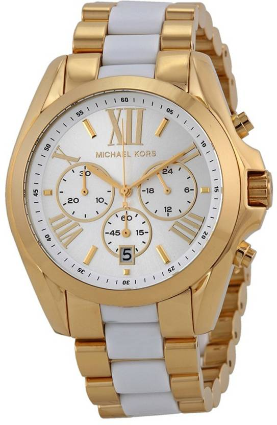 ed533955cc90 Michael Kors MK5743 Chronograph White Dial Two-tone Hybrid Watch - For Men    Women - Buy Michael Kors MK5743 Chronograph White Dial Two-tone Hybrid  Watch ...
