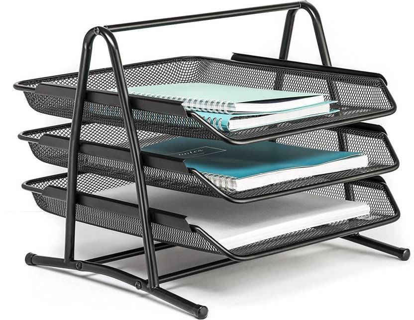 Kincart 3 Compartments Metal Mesh Doent Tray