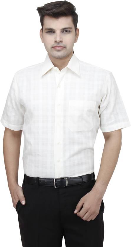 cfe3681e7 Koutons Outlaw Men s Checkered Formal regular Shirt - Buy white ...