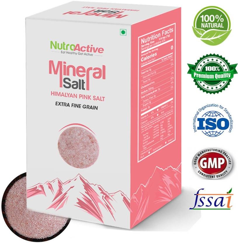 NutroActive NutroActive Mineral Salt, Himalayan Pink Salt Extra Fine Grain  (0 5 - 1 mm) 400 gm