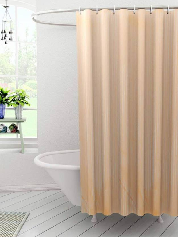 Kuber Industres 210 Cm 7 Ft Polyester Shower Curtain Single