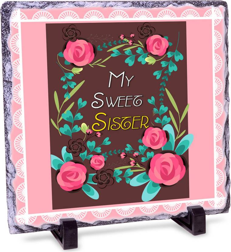 Alwaysgift My Sweet Sister Rock Tile Showpiece Gift Set Price In