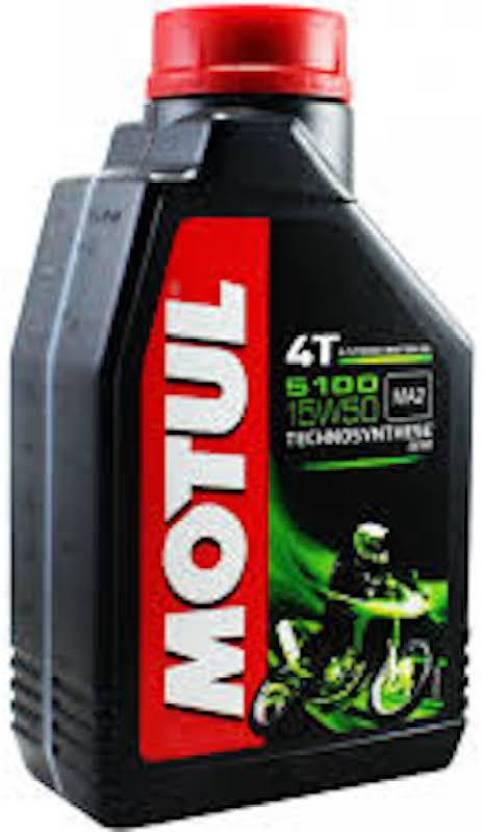 Mr. Nut & Boltz Motul 5100 5100 4T Hybrid 15W-50 API SM Technosynthese Petrol Engine Oil for Bikes (1 L) Engine Oil (1 L)
