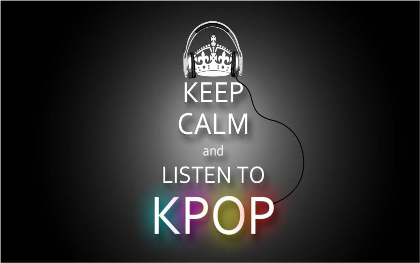 Keep Calm And Listen To Kpop Poster For Room Paper Print Music