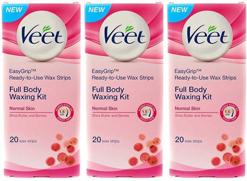 Veet Normal Skin Full Body Waxing Kit Strips  (60 Strips)