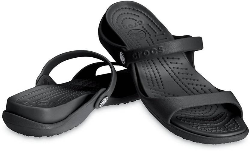 8f5723ba92a9 Crocs Women Black Flats - Buy 10043-060 Color Crocs Women Black ...