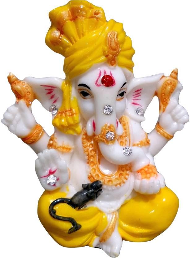 Japson Lord Ganesh Idol For Car Dashboard Decorative Showpiece 10