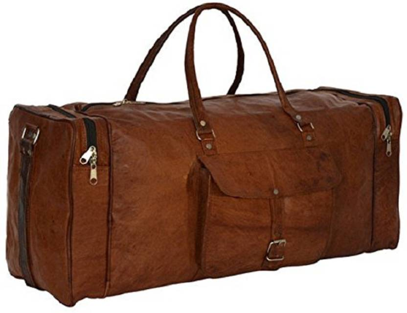 mangalmurti Leather Bag Vintage Handmade Brown Duffle Bag Travel Duffel Bag.  Share. Home · Bags ... 845c55d7c4