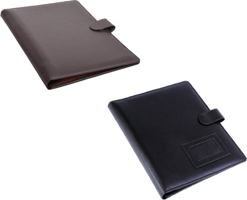 coi leatherite brown and brown file folder and resume folder for documents and certificate for office - Resume Folder