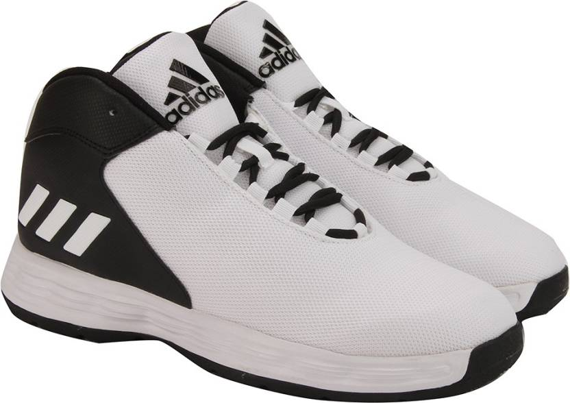 ADIDAS HOOPSTA Basketball Shoes For Men - Buy BLACK WHITE Color ... 5655de288