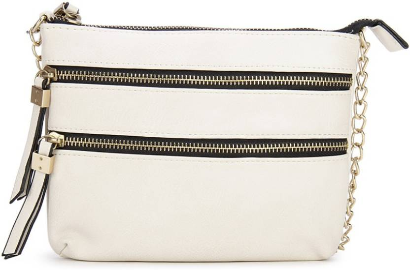 75e0c22c67fe Call It Spring Women Casual White Genuine Leather Sling Bag Bone w  lt gold  hw - Price in India