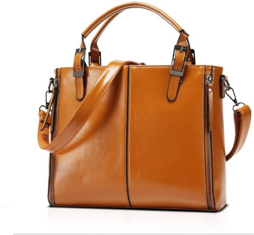 25e7b3a10492 Buy Aeoss Hand-held Bag Brown Online   Best Price in India ...