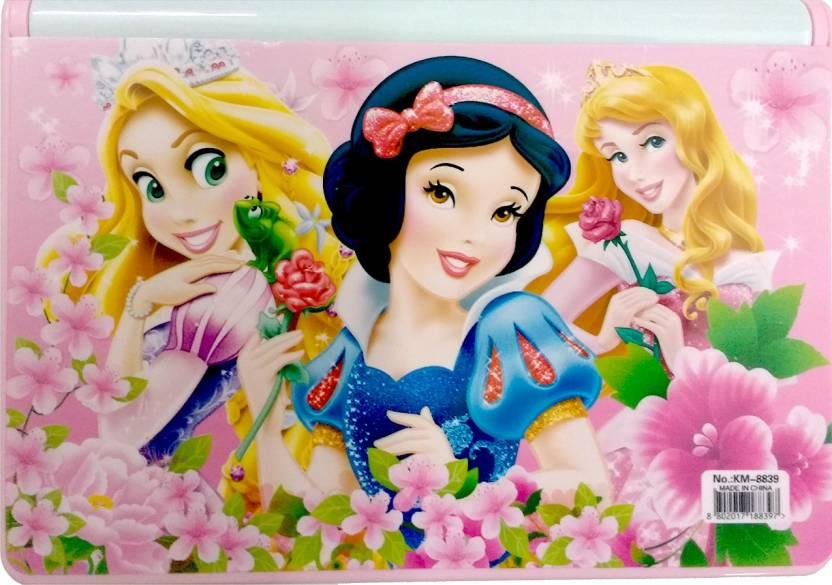 NeoTask Bookshelf Disney Princess Smart Kids Cartoon Art Plastic Pencil Box