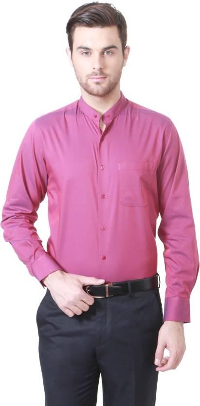 Peter England Men Solid Party Shirt - Buy Pink Peter England Men ...