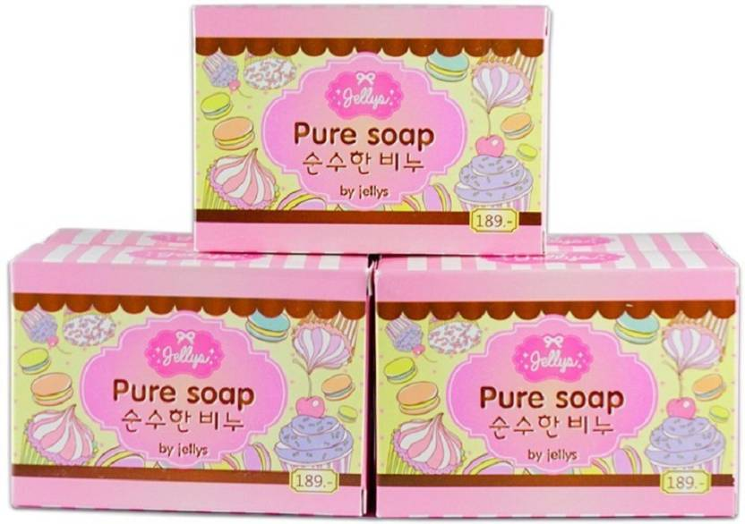 Jelly Pure Soap with Vitamin E (100 g, Pack of 3)