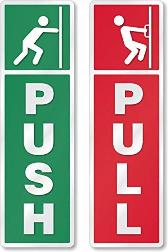 asmi collections small self adhesive push and pull sign stickers set of 4 sticker