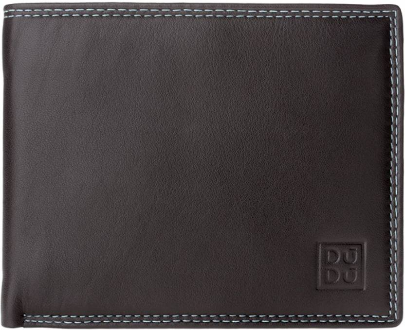 bd1e68d6e0577 Dudu Men Brown Genuine Leather Wallet Dark Brown - Price in India ...